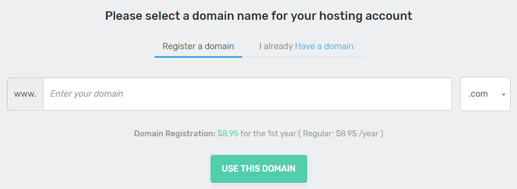 domain name registration with fastcomet