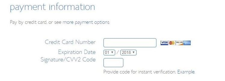 bluehost payment details