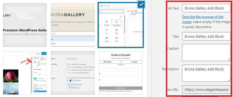how to add alt text in wordpress images
