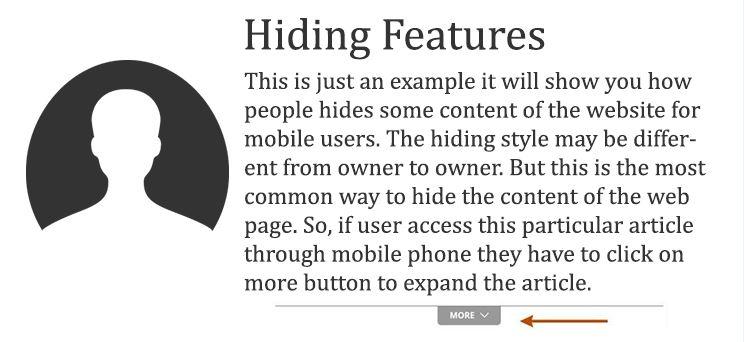 hide content