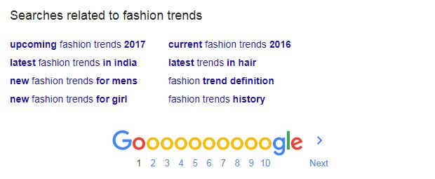 keyword planner for fashion trends