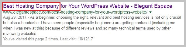 optimized page title