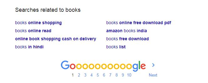 search suggestions for book