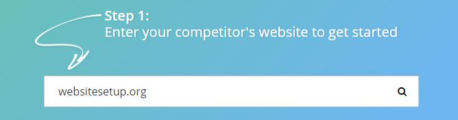competitors website in spyfu