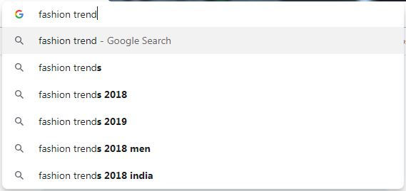 google suggest 2019