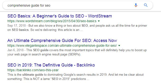 guide for seo