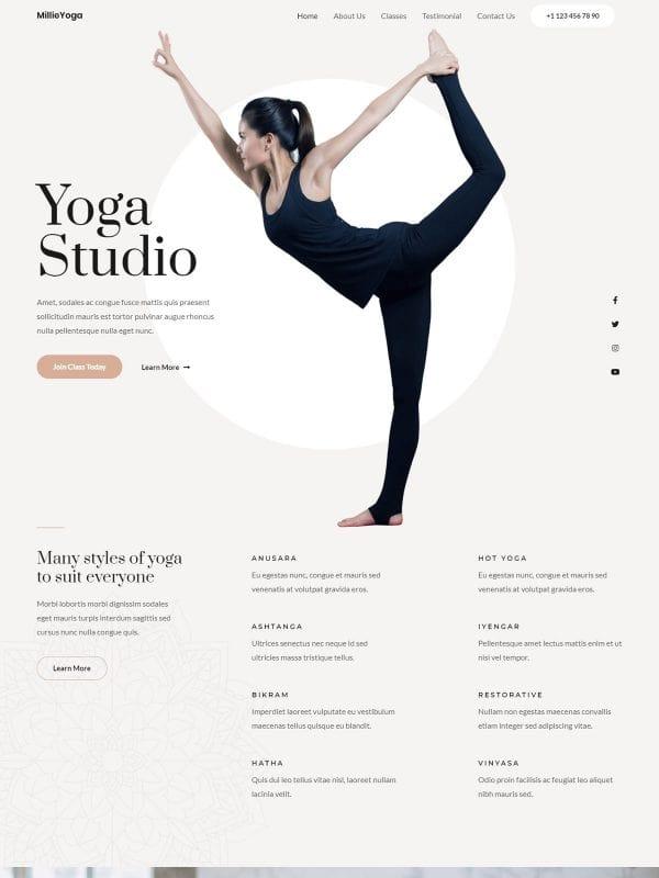 yoga-studio theme