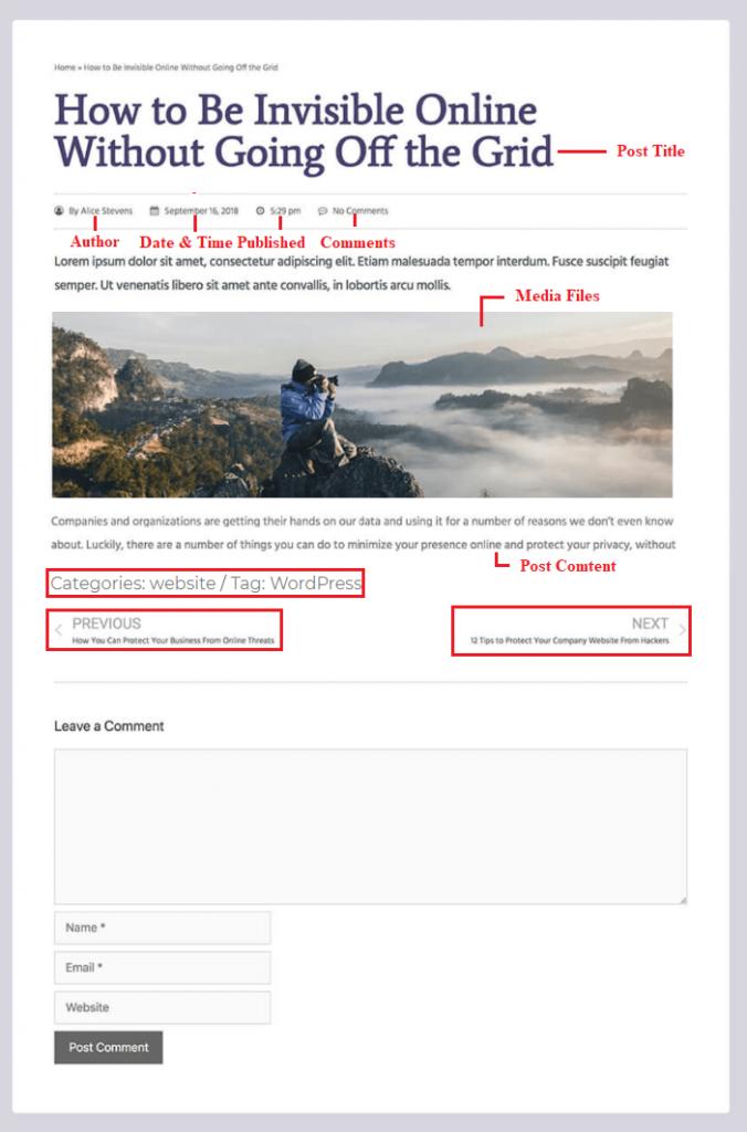 sample wordpress post format